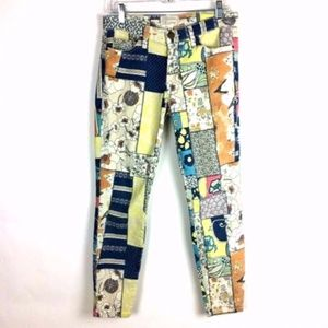 Current/Elliott The Stiletto Hippie Patchwork Jean